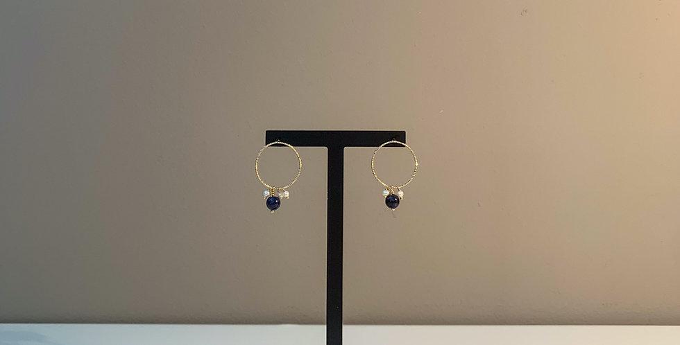 Fabien Ajzenberg Lapis blue earrings