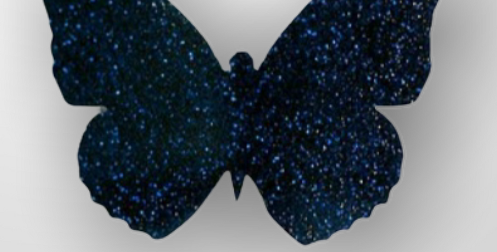 Les Petits Bisous Blue Glitter Butterfly brooch