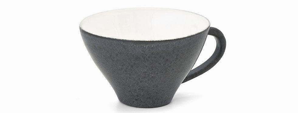 E. Leijon Stone cup with ear dark grey