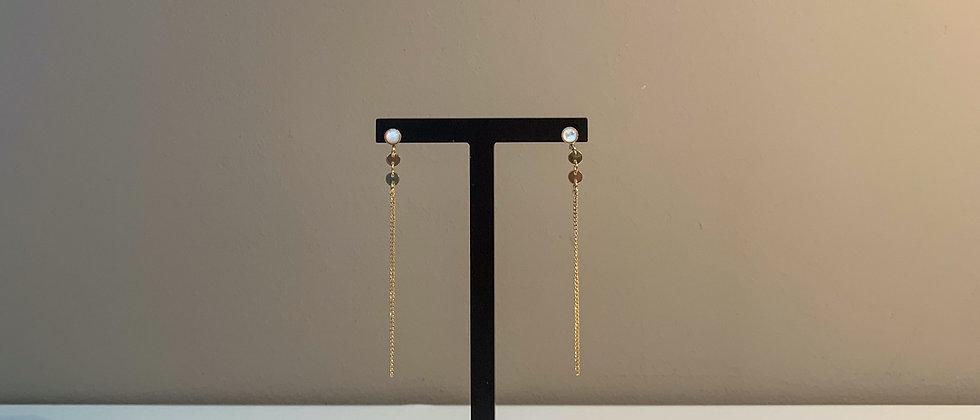 Fabien Ajzenberg Chain with Malachite earrings