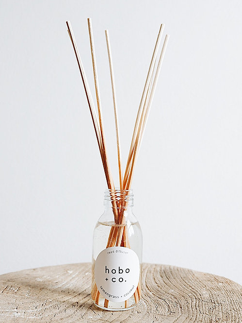 Hobo + Co Lemongrass & Coconut reed diffuser