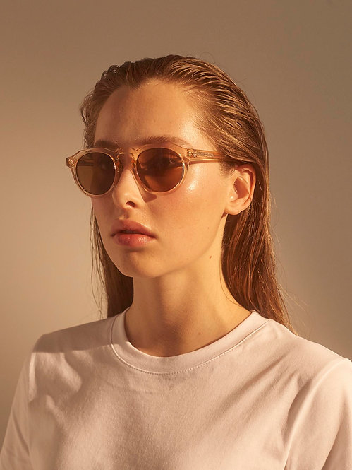 A. Kjaerbede George champagne sunglasses