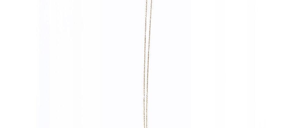 Les Petits Bisous Golden Feather necklace