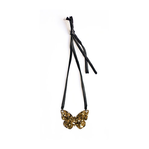 Les Petits Bisous Golden butterfly necklace