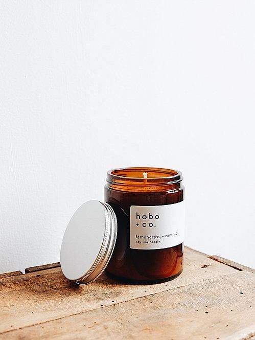 Hobo + Co Lemongrass & Coconut jar candle