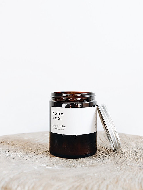 Hobo + Co Orange Spice jar candle