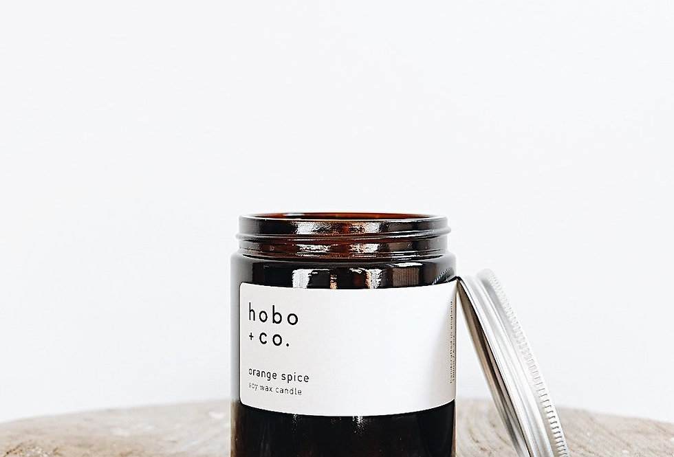 Hobo + Co Orange Spice jar candle