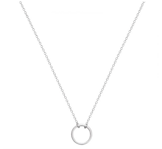 A Weathered Penny Silver circle necklace