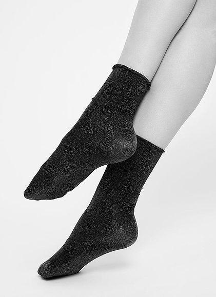 Swedish Stockings Lisa lurex socks gold