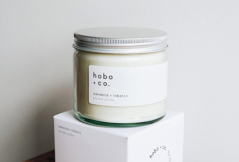 Hobo + Co  Oakwood & Tobacco large candle
