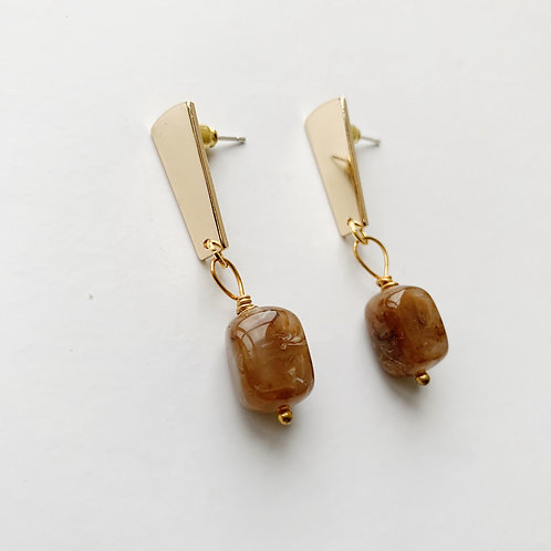 A Weathered Penny Brown stone earrings