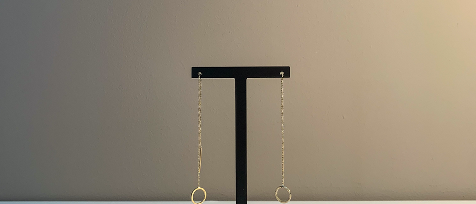 Fabien Ajzenberg Chain earrings with circle