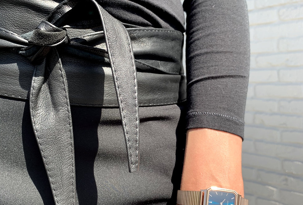 Mint & Molly Leather obi belt