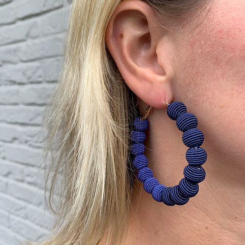 Woven ball earrings