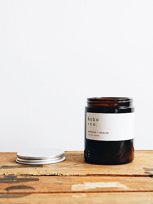 Hobo + Co Oakwood & Tobacco jar candle