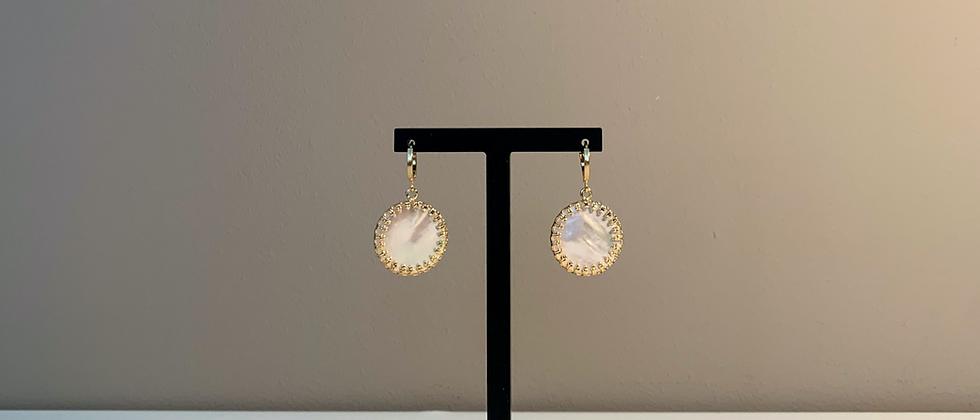 Fabien Ajzenberg Pearl circle earrings
