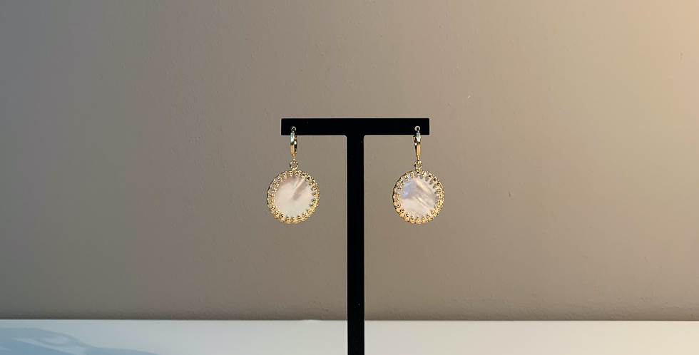 Fabien Ajzenberg Pearl circle earrings