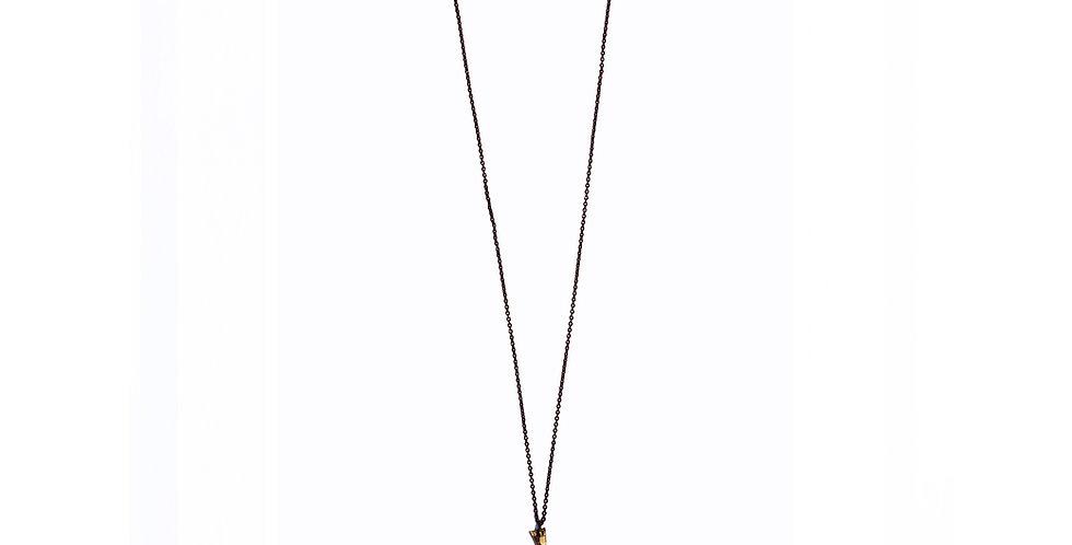 Les Petits Bisous Golden Monstera necklace