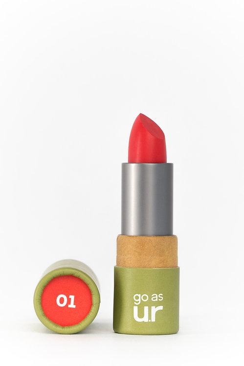 Go as u.r creamy lipstick   Adrenaline Red