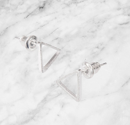 A Weathered Penny Silver Triangle studs silver