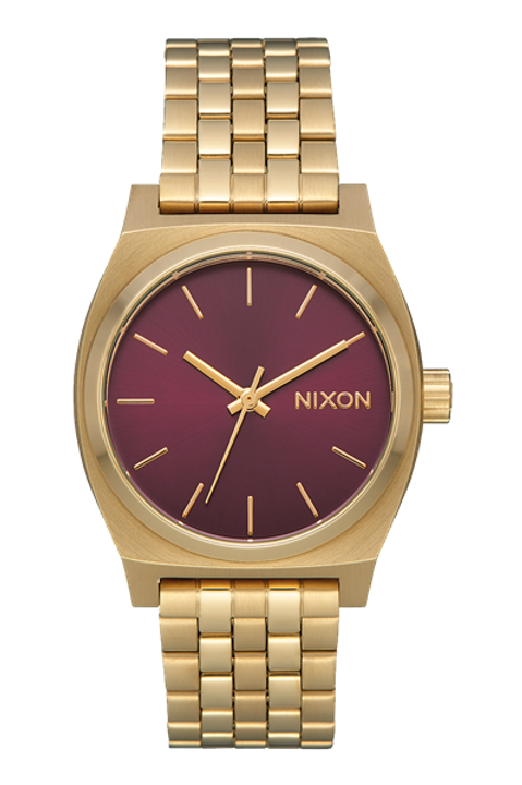 Medium Time Teller Light Gold / Bordeaux Sunray
