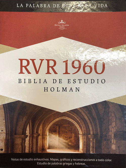 Biblia De Estudio Holman, RVR 1960, Símil Piel Castaño / Verde