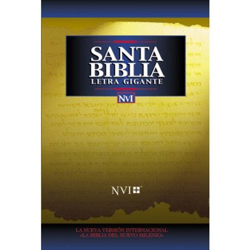 Biblia Letra Gigante NVI, Imitación Piel Negro