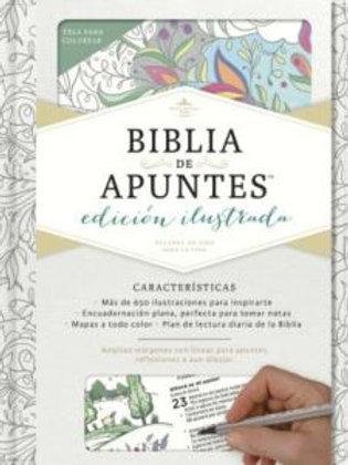 Biblia de Apuntes Ilustrada RVR 1960, Blanco Tela