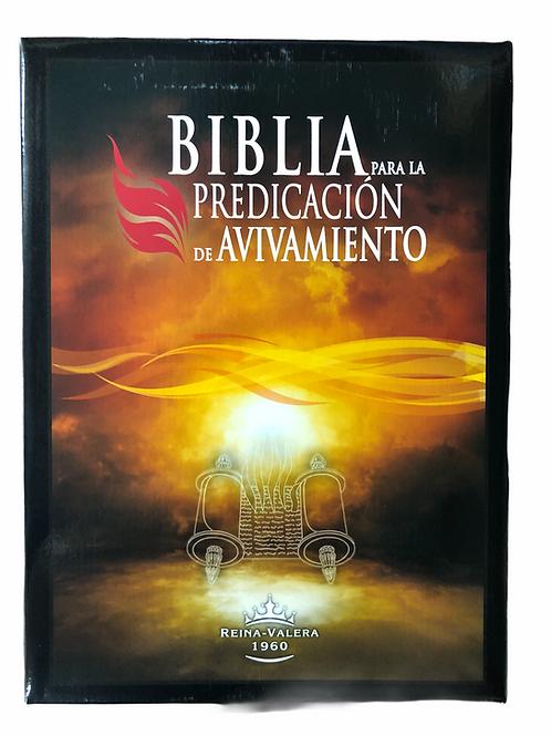 Biblia Para La Predicación De Avivamiento RVR 1960, Piel Negro Con Índice