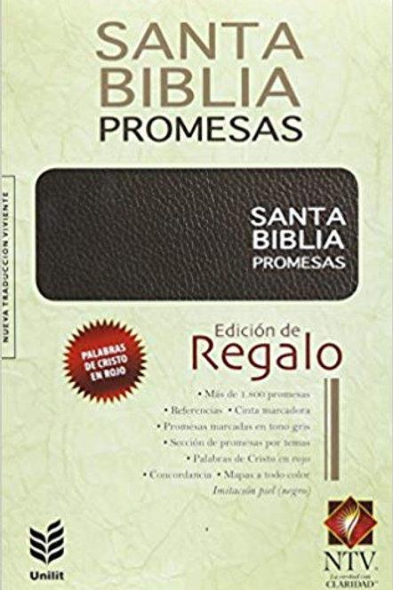 Biblia de Promesas edición de regalo imitación piel negro NTV