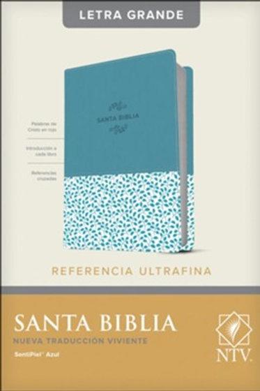 Biblia NTV, Referencia Ultrafina, Letra Grande, SentiPiel Azul