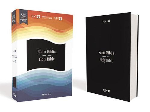 Biblia Bilingüe, Imitación piel Azul NVI-NIV