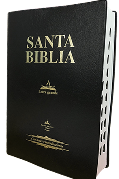 Biblia letra grande tapa de vinilo con índice RVR60