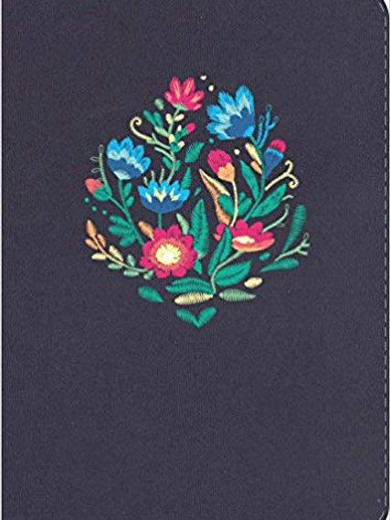 Biblia compacta NVI, Azul Bordado Sobre Tela con índice