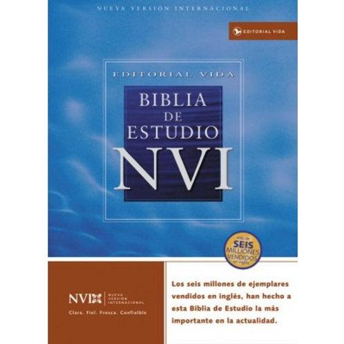 Biblia De Estudio NVI, Imitación Piel Negro Con Índice