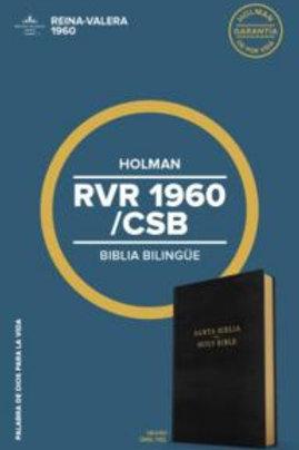 Biblia Bilingüe, RVR 1960/CSB, Imitación Piel Negro