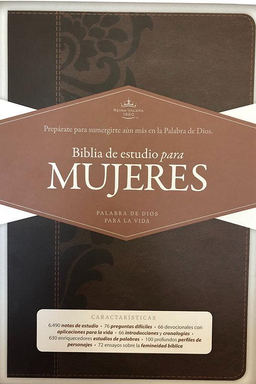 Biblia de estudio para mujeres, RVR 1960, Símil Piel Café