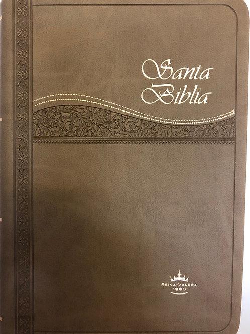 Biblia compacta imitación piel con índice RVR 1960