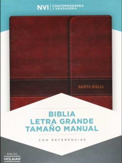 Biblia Letra Grande Tamaño Manual NVI, Símil Piel Marrón Con Índice