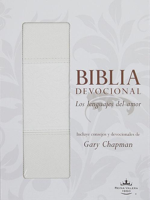 Biblia Devocional Los Lenguajes Del Amor RVR 1960, Piel Blanco