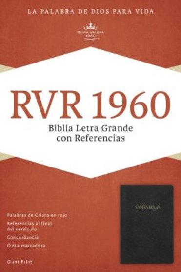 Biblia Letra Grande con Referencias, negro imitación piel, RVR 1960
