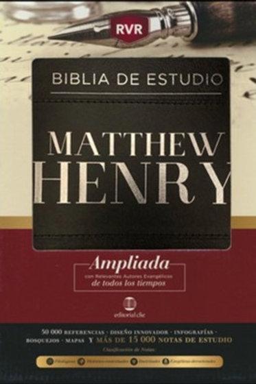 Biblia de Estudio Matthew Henry, Piel Fabricada Negro