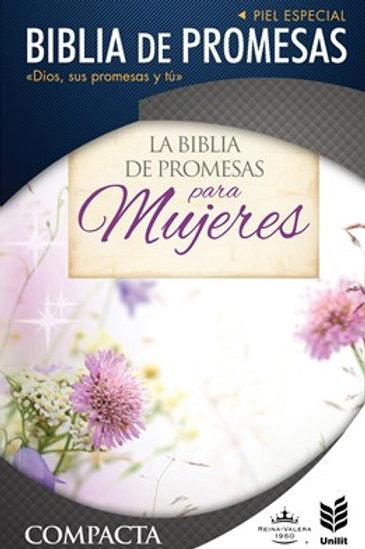 Biblia De Promesas Compacta RVR 1960,  Piel Especial Con índice