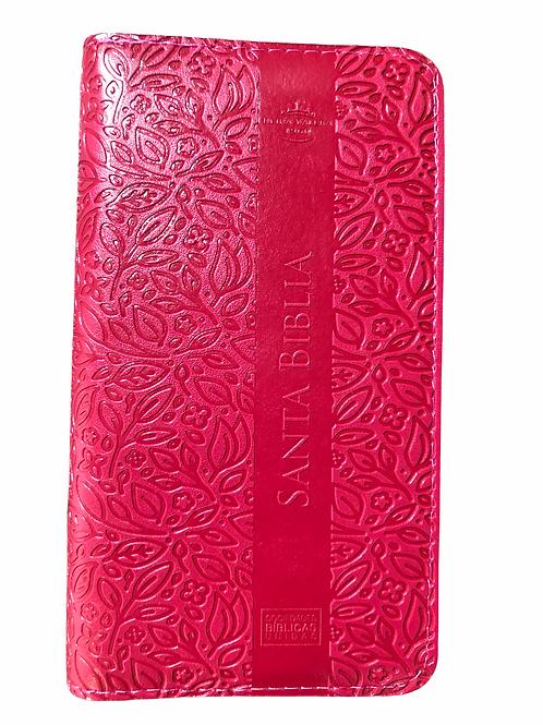 Biblia Tipo Chequera RVR 1960, Imitación Piel Con Índice y Zíper