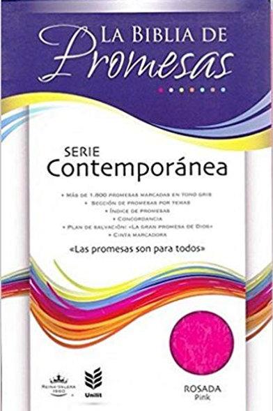 Biblia de promesas piel rosa RVR 1960