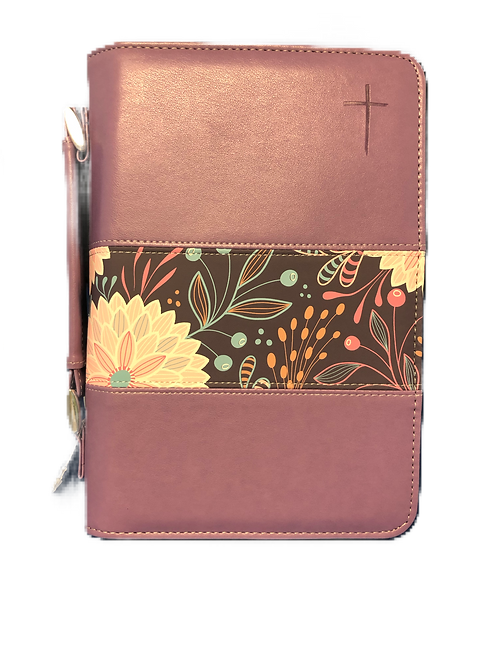 Bible cover MD - Cruz Lila