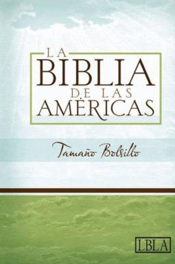 Biblia tamaño bolsillo imitación piel negro con índice LBLA