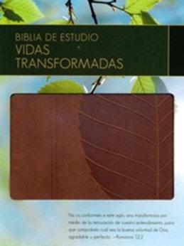 Biblia de estudio Vidas Transformadas imitación piel RVR 1960