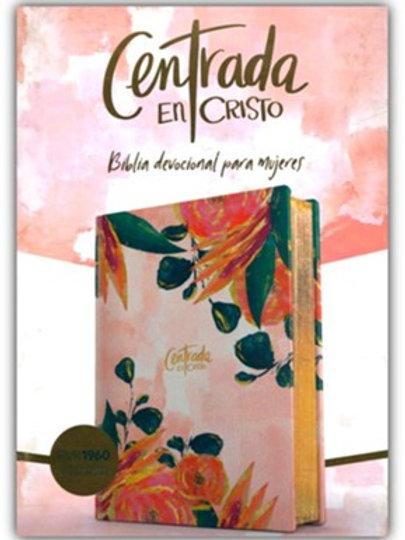 Biblia Devocional Para Mujeres Centrada En Cristo RVR 1960, Simil Piel Floreada