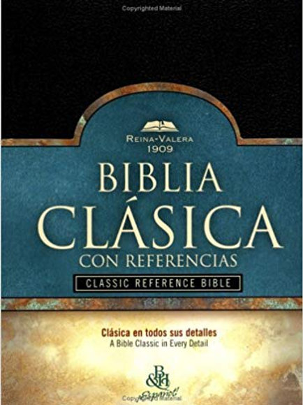 Biblia Clásica con Referencia RVR 1909, Tapa Dura Negro